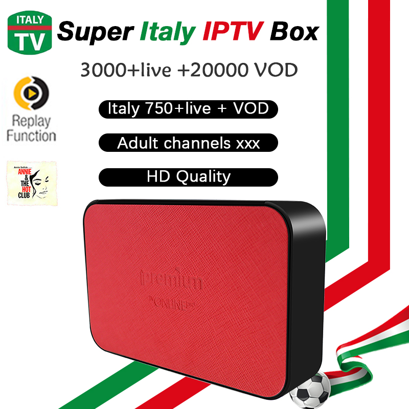 Italy IPTV Box AVOV TVonline+ European IPTV 3000+LIVE 20,000+ vod Italian Channels Germany IPTV Adult Hot Club android TV box free italy sky french iptv box 1300 european channels iudtv european iptv box live stream sky sports turkish sweden netherland