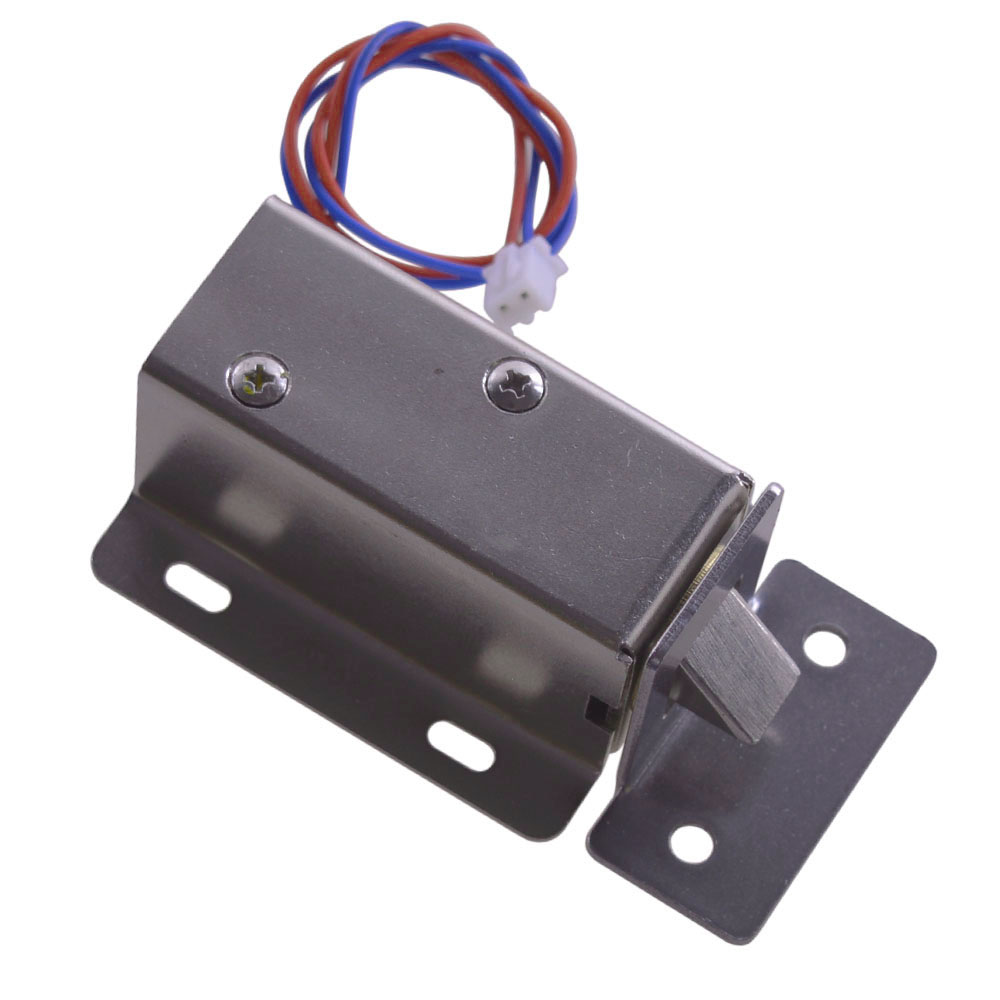 12V-24V Generic Cabinet Door Electric Lock Tongue Up Assembly Solenoid with Lock Buckle dc 24v 0 77a door lock tubular electric solenoid coil