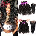 7a Peruvian Deep Wave With Closure 3 Bundles Peruvian Virgin Deep Wave Hair With Closure Guangzhou New Star Hair With Closure