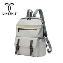 LIKETHIS 2019 Hot Women Backpack Laptop Back Pack Multifunction Waterproof High Quality Travel Bagpack Mochila Escolar Notebook