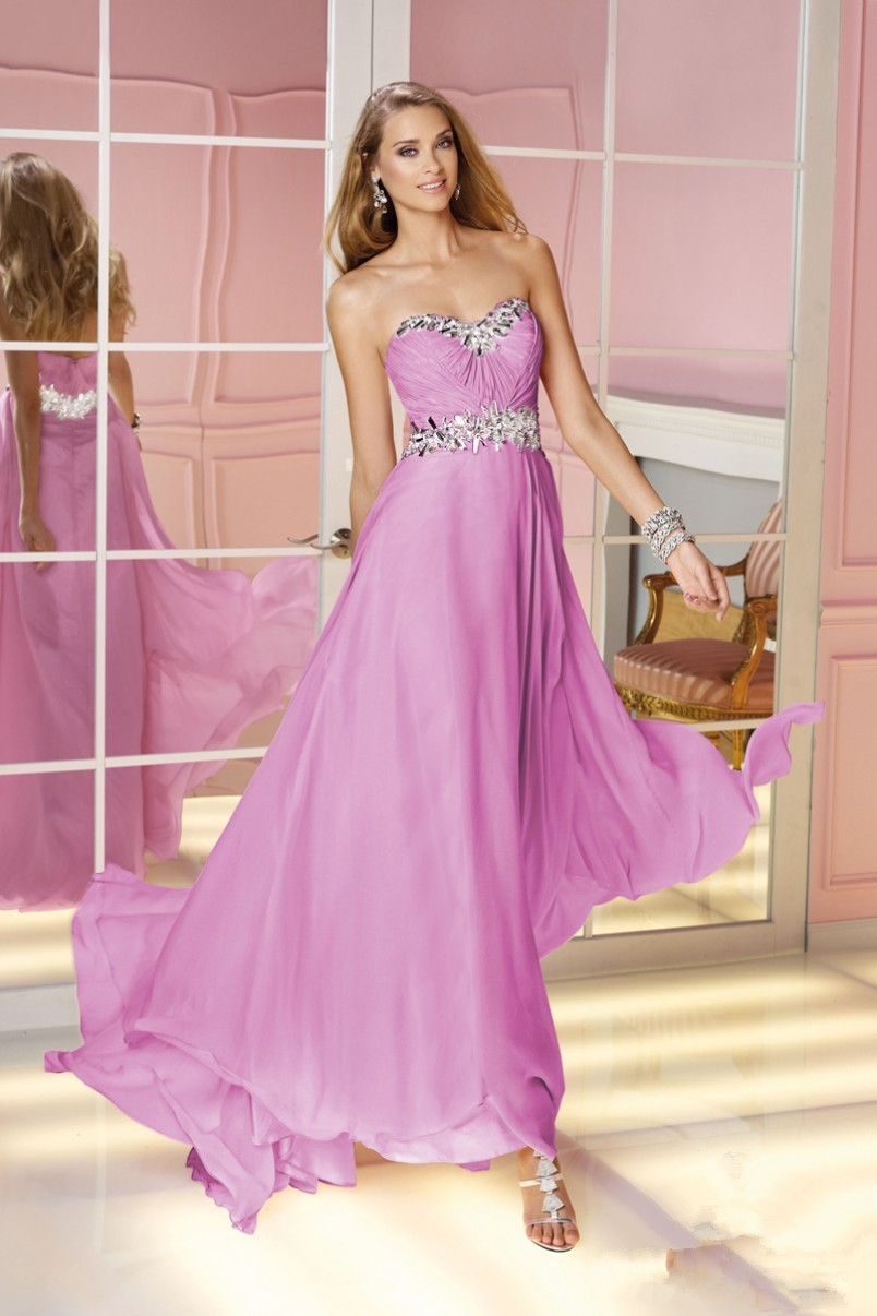 680d5ee6fabe3 US $145.0 |2015 Spring Prom Dresses Discount Prom Dresses Newest Pastel  Colored Chiffon Long Dress Layered Flowing Skirt Train Sweetheart-in Prom  ...