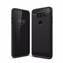 TPU Soft Case for LG V30 Carbon Fiber Silicone Brushed Anti-knock cell phone Back Cover for LG Q6 G6 PRO cases case for lg v30 v 30 carbon fiber brushed texture ultra thin slim soft silicone case for lg v 30 non slip tpu back cover cases