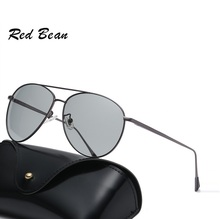 width-140 new Photochromic sunglasses men Creative models polarized UV day and night driving vision for women