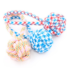 Free shipping ! Pet woven cotton rope ball/cats and dogs chew toys/dogs knot toy /pet toys