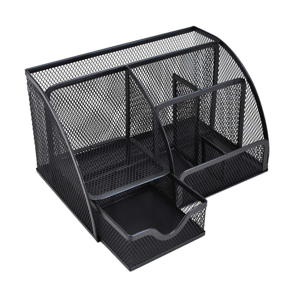 7 Stationery Storage Box Multi-functional Mesh Desk Organizer Pen Holder ContainerCollection Office School Supplies