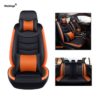 Wenbinge Cowhide leather car seat cover For ford focus 2 mondeo mk3 fiesta accessories mk7 ford kuga explorer covers for vehicle