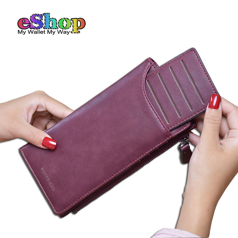 New Fashion Women Wallets High Quality PU Nubuck Leather Solid Long Purse Woman Large Capacity Clutch Bag Designer Card Wallet yuanyu 2018 new hot free shipping real thai crocodile women clutches dinner long women wallet large capacity women bag