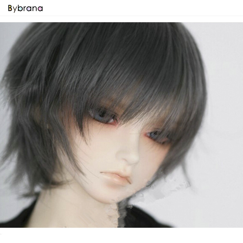 Bybrana 1/3 1/4 1/6 1/8 BJD Doll Wig High-temperature Wire Fashion Short BJD Wig Hair For Dolls Toy Accessories Good Quality
