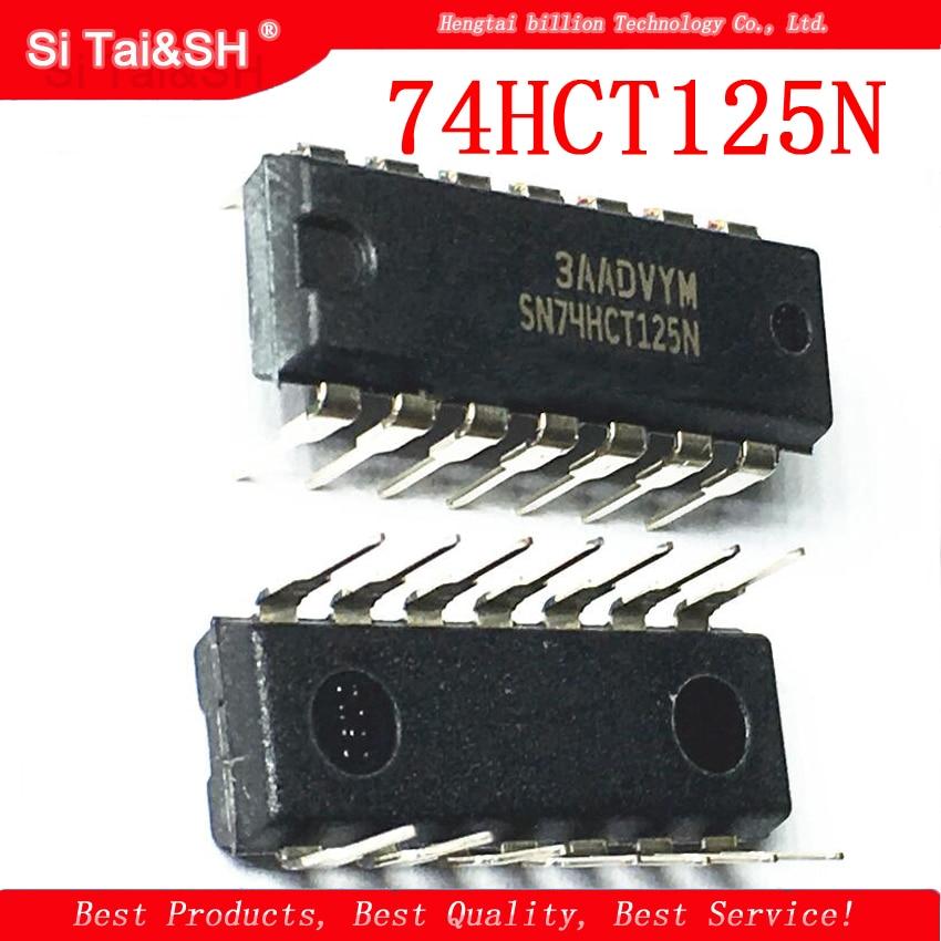 10pcs/lot 74HCT125N SN74HCT125N 74HCT125  DIP-14 Goodquality Buffer/line Driver Chip