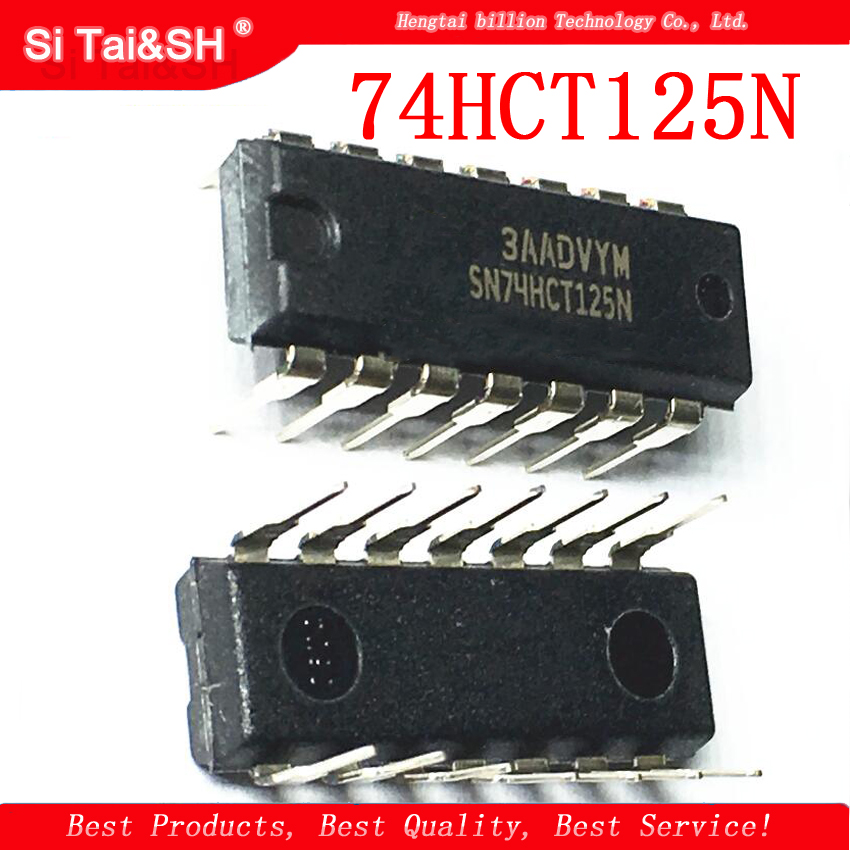 10pcs/lot 74HCT125N SN74HCT125N <font><b>74HCT125</b></font> DIP-14 goodquality Buffer/line driver chip image
