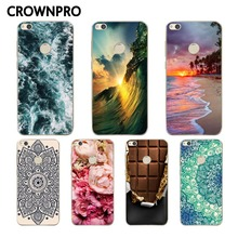 CROWNPRO Silicone Case For Huawei Honor 8 Lite Case Cover For Huawei Ascend P8 Lite 2017 Soft TPU Phone Shell