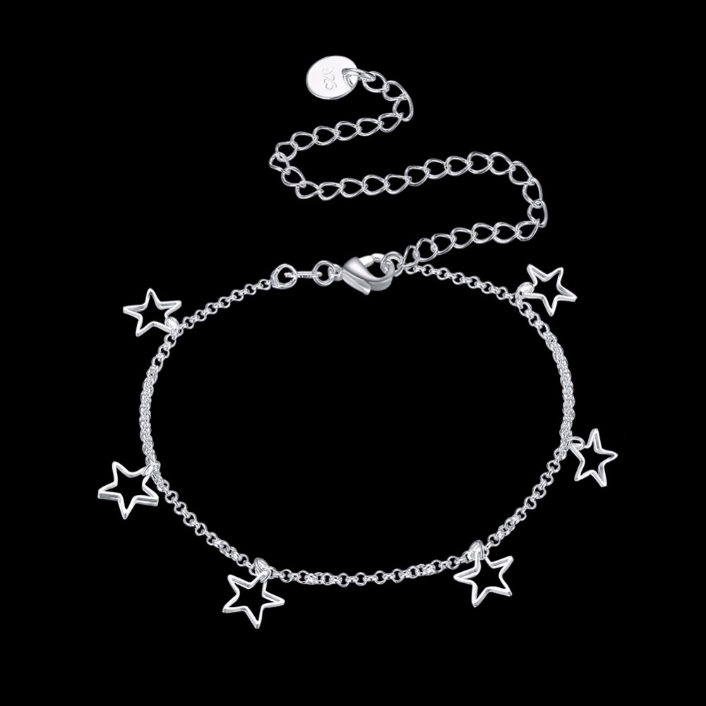 Fine Anklets Reliable Pretty 925 Sterling Silver Anklet Without Return Jewelry & Watches