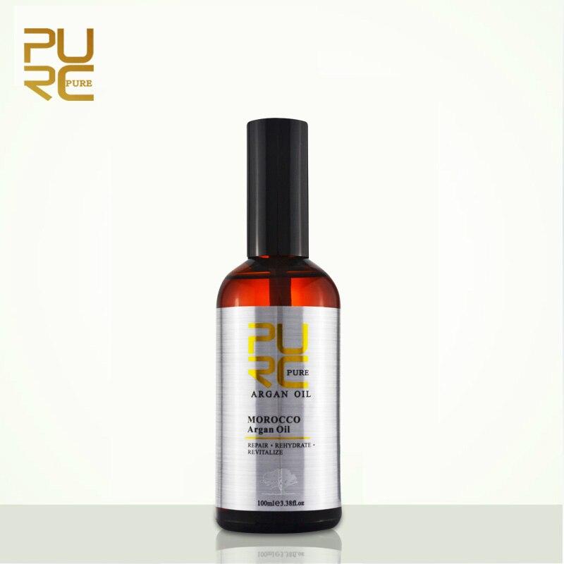PURC Marokkanischen arganöl für haar pflege und schützt beschädigt haar für feuchtigkeit haar 100 ml haar salon produkte 11,11 REINE