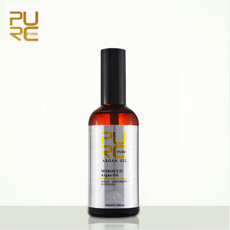 PURC Moroccan argan oil for hair care and protects damaged