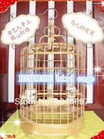 (FREE SHIPPING)OCTAGON cage,HANDMADE pet cages, bird cages, natural bamboo cages for pet