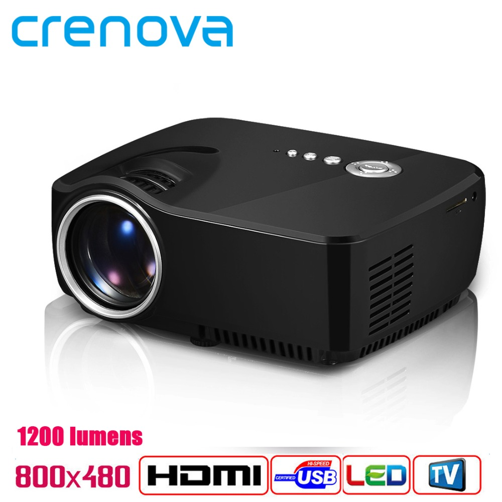 Crenova Home Theater Cinema 1200lumens 1080P HD HDMI USB Video Digital portable LCD LED Mini Projector Proyector Beamer Projetor