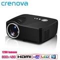 Crenova Home Theater Cinema 1200lumens 1080P HD HDMI USB Video Digital portable LCD LED Mini Projector Proyector Beamer Projetor