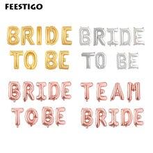 18807358acfe 16 pulgadas de la novia a ser globos oro rosa Mylar cartas globos de papel  de