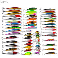 New All Kinds of Fishing Lures Set 56Pcs 378g Fake Lure Minnow Pilers Spoon Hooks Fish Lure Artificial Bait Fishing Gear