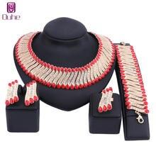 Набор ювелирных украшений из кристаллов 3 цвета