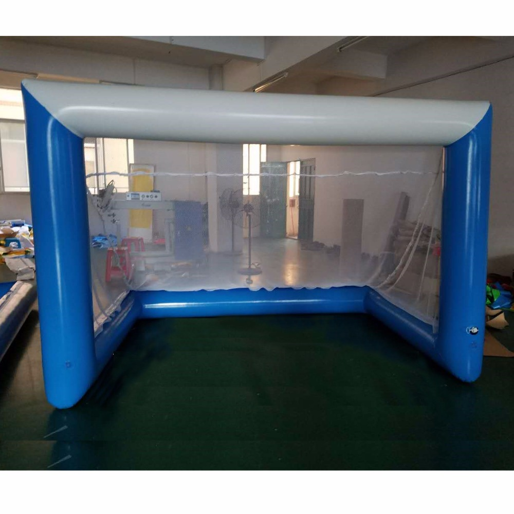 inflatable Beach football door football field water sport toys color and size funny summer inflatable water games inflatable bounce water slide with stairs and blowers