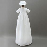 Vintage Long White Dresses Aestheticism Baby Costume 1st Birthday Gown Draped Infant Boy Memory Christening Gowns