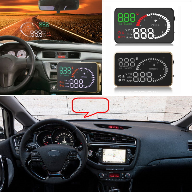 Liislee Car HUD Head Up Display For KIA Cee'd Cerato Rio Sorento Sportage Soul K2 - Safe Screen Projector / OBD II Connector liislee car hud head up display for subaru forester xu impreza legacy outback safe screen projector obd ii connector