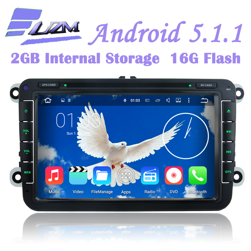 8 Inch Android5.1.1 Car DVD Player GPS Car Radio Tape For VW PASSAT CC Golf 5 6 Tiguan Touran EOS Jetta Caddy Sharan Multivan T5