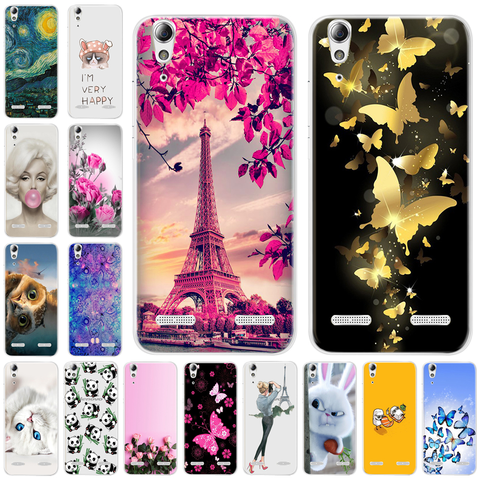 Silicone Soft Phone Case For Lenovo A6010 Plus A6000 For Lenovo Lemon K3 K30-T Cover 5.0 K3 A 6000 6010 Case For Lenovo Lemon K3(China)