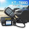Nova chegada qyt kt-7900d quad band/quad display 144/220/350/440 mhz mobile radio 25 watts grande display lcd kt7900d walkie talkie
