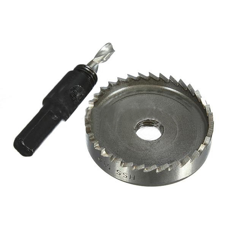 Hole Saw Tooth HSS Steel Hole Saw Drill Bit Cutter Tool for Metal Wood Alloy 53mm new 50mm concrete cement wall hole saw set with drill bit 200mm rod wrench for power tool