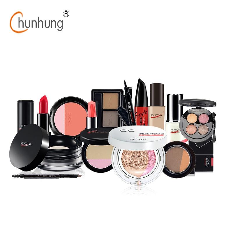 DUOYA 15 Pcs/set Professional Makeup Sets Eyeshadow Palette Blush Lipstick Brow Pen Shader Concealer Mascara Lip Gloss Cosmetics 3concept eyes 4 pen style moisturizing lipstick lip gloss pink