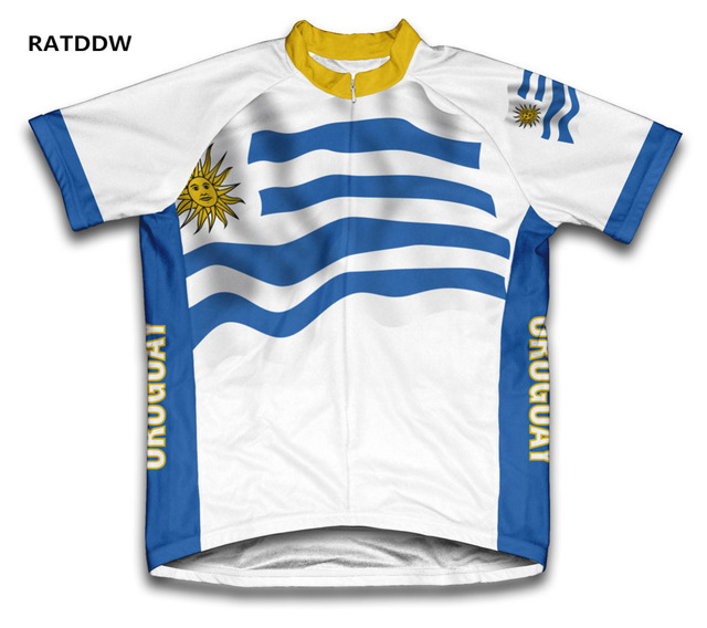 ef9910363 Uruguay Flag Cycling Jersey Bicycle Bike Short Sleeve Sportswear Cycling  Clothing Quick-Dry Racing Bicycle Clothes Tops