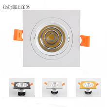 Square 9W 12W 20W 30W Warm Cold White COB led down Light COB LED Recessed Spot light Downlight AC85-265V [dbf]super bright epistar cob led recessed downlight 5w 9w 12w warm white natural white cold white led ceiling spot light ac220v