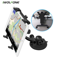 2017 Soporte Movil Car Iwolfone Suction Car Mount Tablet Holder Universal For 3.5-10.5 Inch For Ipad For Gps Dvd Phone Stand