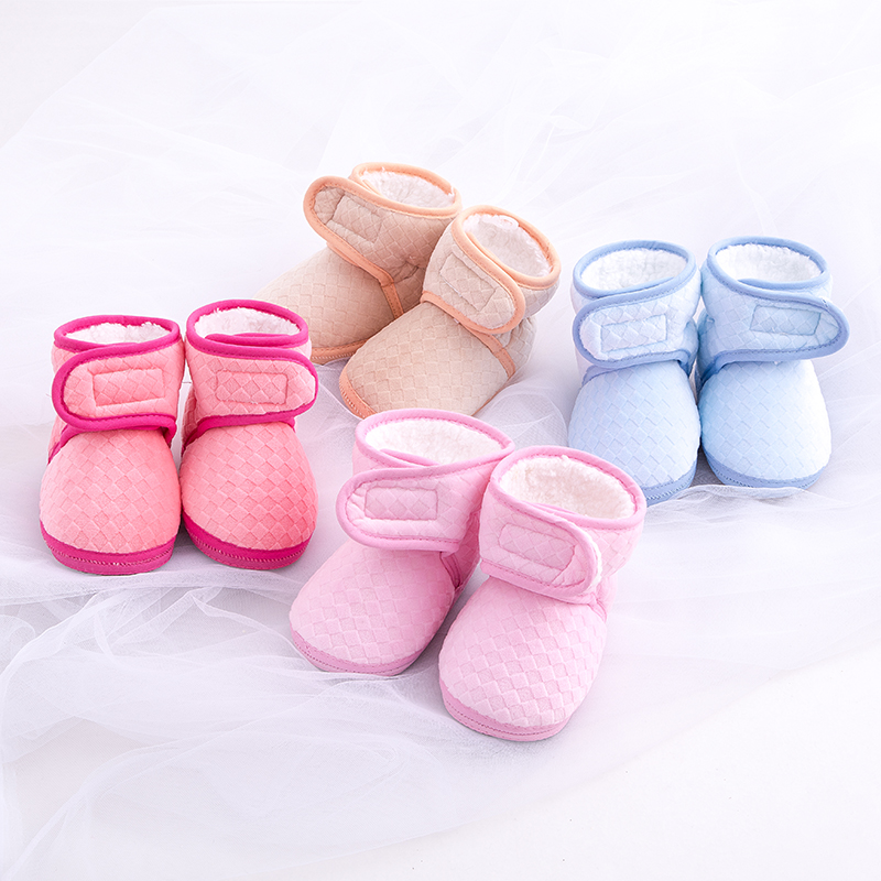 Обувь для младенцев с флисовой подкладкой Сапоги и ботинки для девочек для маленьких мальчиков для маленьких девочек Обувь теплая обувь де...