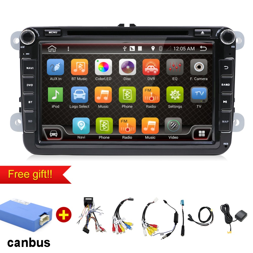 Bosion 2 Din 8 inch Quad core Android 7.1 car dvd for VW Polo Jetta Tiguan passat b6 cc fabia mirror link wifi Radio CD in dash-in Car Multimedia Player from Automobiles & Motorcycles    1