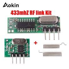 433 МГц Супергетеродинный радиочастотный приемник и модуль передатчика 433 МГц пульт дистанционного управления для Arduino uno беспроводной модуль Diy комплекты