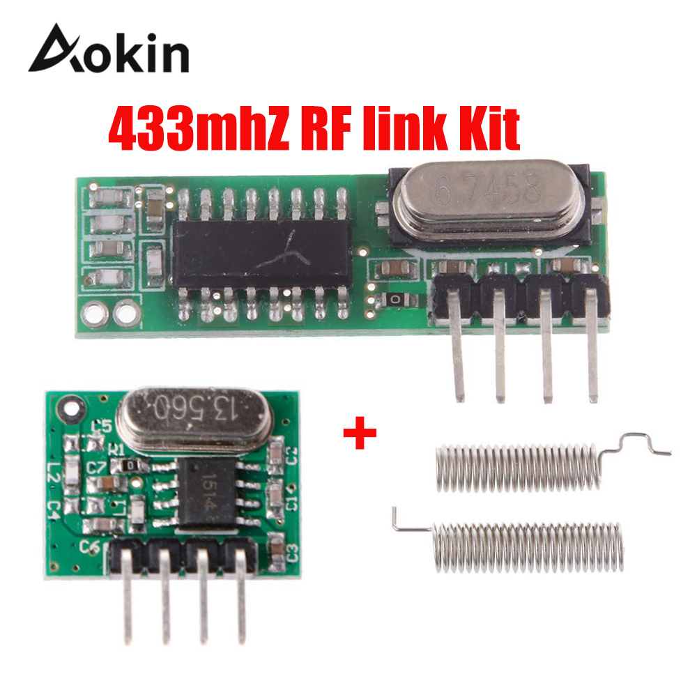 433 Mhz Superheterodyne RF Receiver And Transmitter Module 433Mhz Remote Controls For Arduino Uno Wireless Module Diy Kits