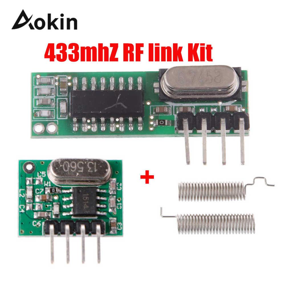 433 Mhz Superheterodyne RF Receiver and Transmitter Module 433Mhz Remote controls For Arduino uno Wireless module Diy Kits