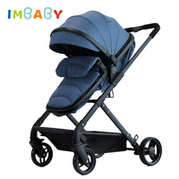 IMBABY 7.5KG 2 in 1 Warm Baby Stroller Pram Baby Buggy For Newborns High Landscape Baby Pushchair Perambulator For Winter