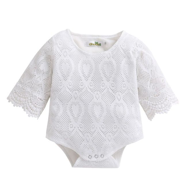 e4fe7900fc0 Newborn Romper Baby Girls 100% Cotton White ruffles lace Jumpsuit clothing  playsuit Newborn Sunsuit lovely outfits