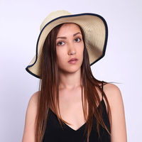 New 2015 Wholesale Casual Foldable Floppy Wide Large Brim Straw Hats Caps Sun Summer Beach Hat