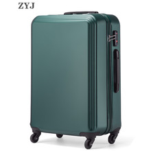 ZYJ Travel Luggage Men Women Trolley Alloy Business Rolling Airplane Luggage Light Weight Suitcase Spinner Wheels Trunk travel tale 20 24 inches abs pc cartoon lovely rolling luggage customs lock spinner brand travel suitcase