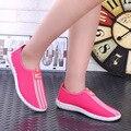 Новый женский мода обувь повседневная прохладный туфли sapatos femininos симпатичные сетки летом скольжения на обувь для ходьбы