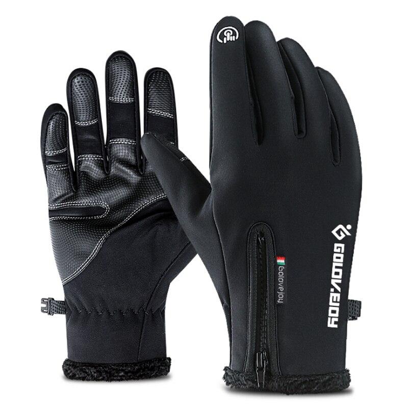 Deportes al aire libre de senderismo de invierno bicicleta guantes de ciclismo para hombres y mujeres simulado de cuero suave de cuero guantes de pantalla táctil