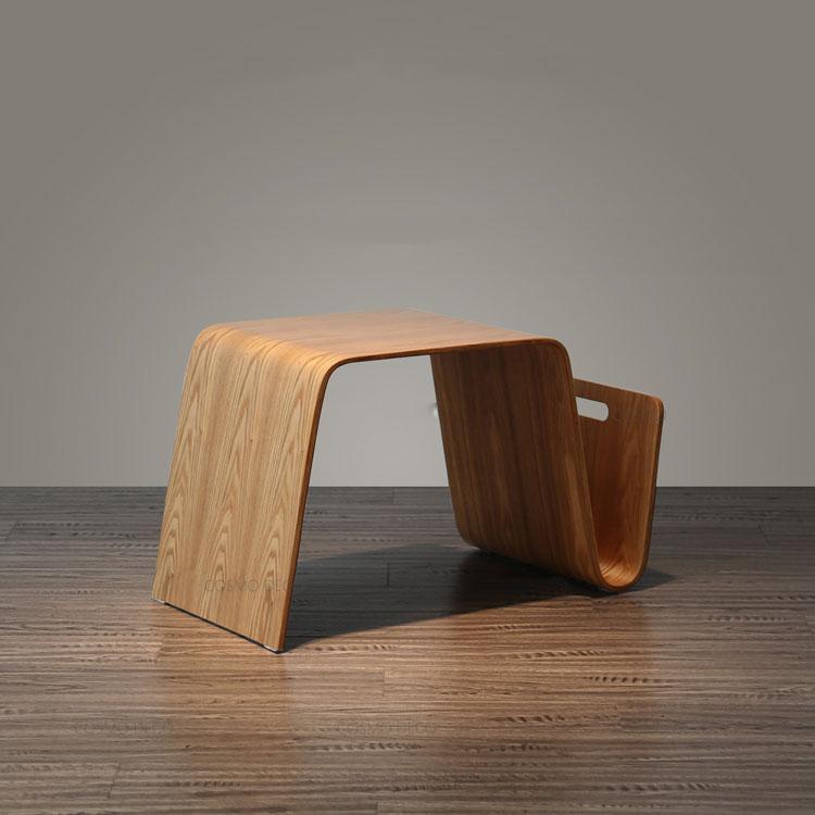 Bent Wood Natural Color Small Tea Table Living Room Furniture Oak Nature Wood