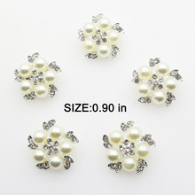 New 10pcs lot 0.9 in Snap Button Dress Jewelry Metal Pearl Buttons Shank  Embellishment for 666066af4852