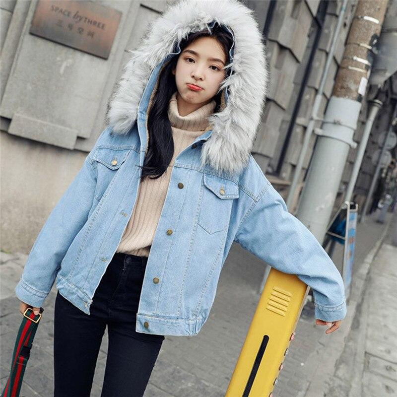 ... Coat Più Tuta Addensare Cappotti Jeans Warm Inverno Delle Denim 2018  Della Sportiva Giacca Jacket40 Velluto Allentato Donne Con Women Oversize  Cappuccio ... 0e0fa22403d