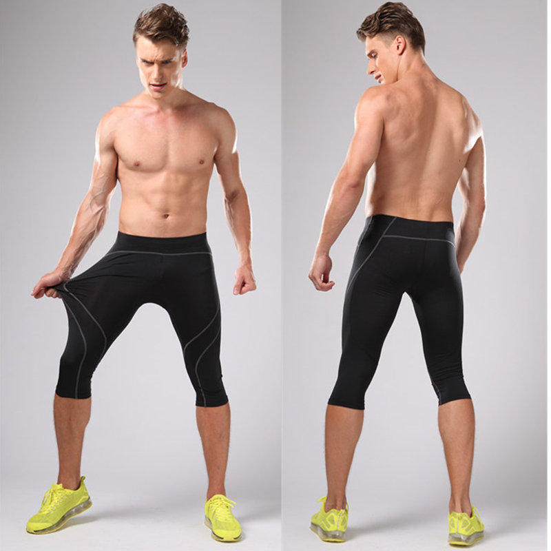 Կոմպրեսիոն վազող տաբատ Տղամարդկանց 3/4 - Սպորտային հագուստ և աքսեսուարներ - Լուսանկար 3